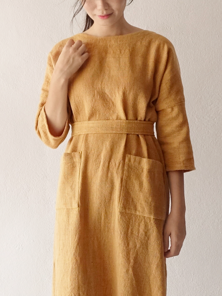 Hand-woven Dress_Jackfruit Yellow