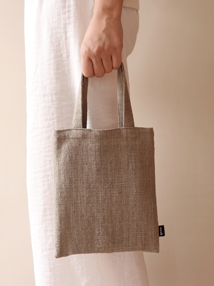 Hand-woven Drawingbook Ecobag_Guava Grey